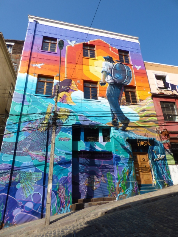 Graffiti is a form of art in Valparaiso, and different neighborhoods reflect different styles and people