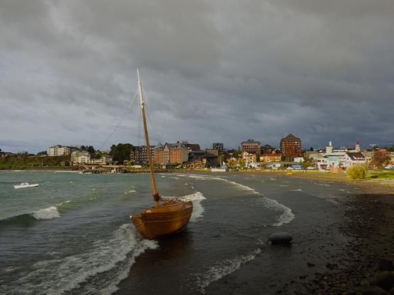 Puerto Varas boat ashore