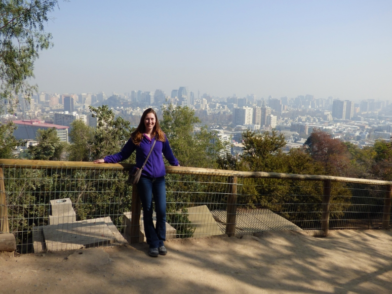 In the smog, there isn't as much of a view. The Santiago skyline stretches on forever!