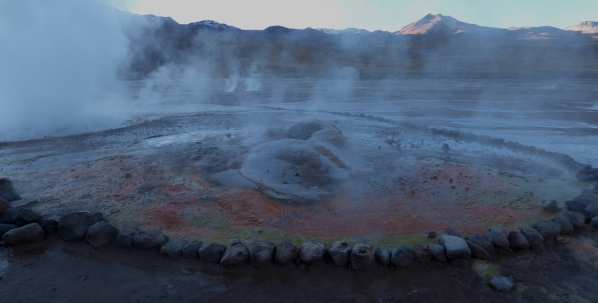 Tatio Geysers is the third largest geyser field in the world.