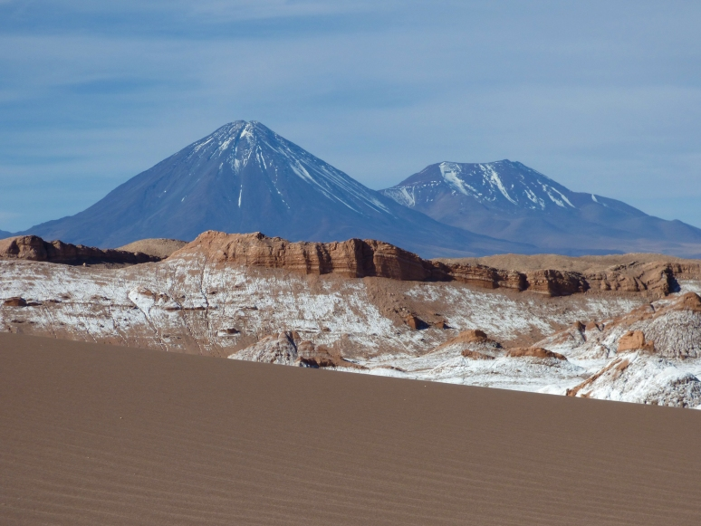 Three vastly different layers to one valley. The Great Dune, the Salt Mountains, and volcanoes as the backdrop. Shots like these are a favorite of mine, as they depict the different sections of a single area.