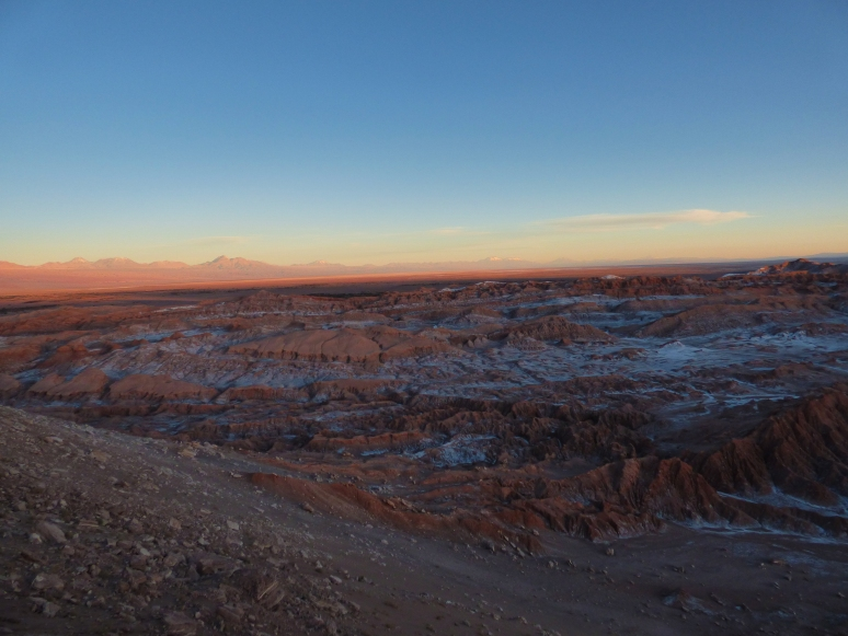The sun goes down over Valle De La Luna. Over the span of 30 minutes, the valley changed from color to color to color. It was a special moment to be in...