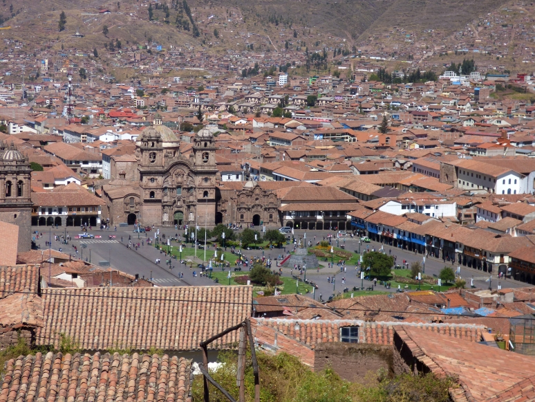Cusco from above. It stretches out instead of up... and is much larger than I expected!