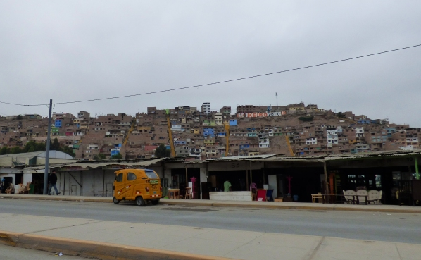The outskirts of Lima, where the beautiful and rich city goes to the opposite end of the spectrum