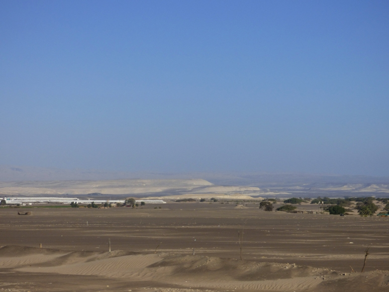 The Peruvian desert, south of Lima