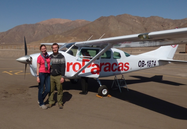 Our sweet ride for flying over the Nazca Lines!