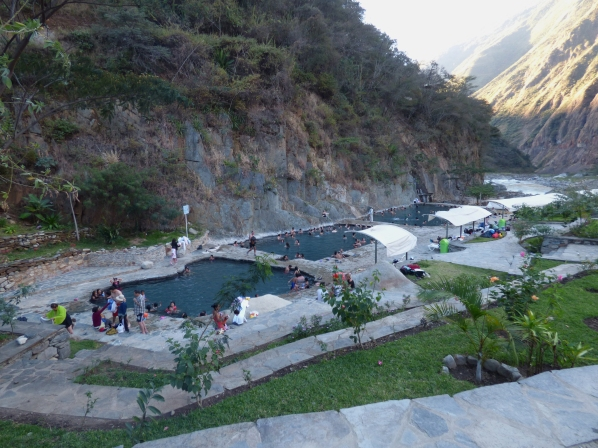 The local hot springs in Santa Teresa. They are the best hot springs in the area, from Cusco to Santa Teresa to Aguas Calientes!