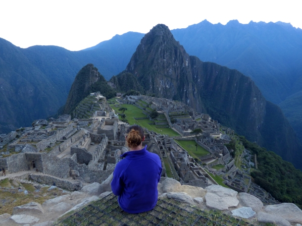 Machu Picchu lies in the background as I