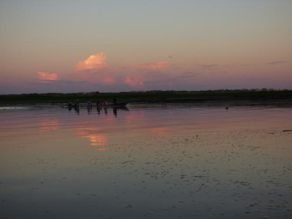 Sunset on the Amazon <3