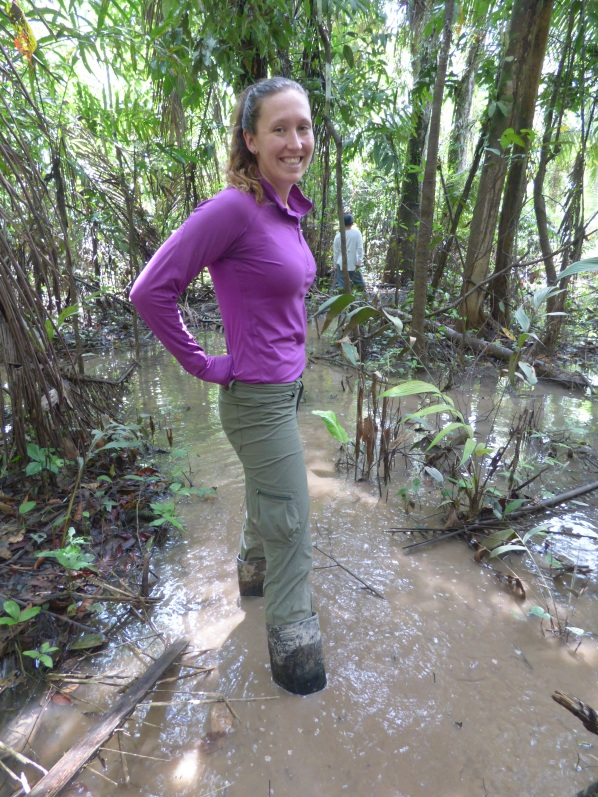 Tromping through the mud, the day after a big rainfall