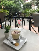 Egg Coffee on the rooftop patio next to Hoan Kiem Lake