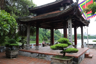 outdoor pagoda at the temple
